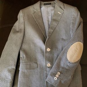 Boys seersucker suit jacket